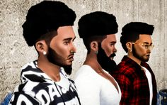 Sims 4 CC's - The Best: TS3 Nappy Fros Hair Conversions for Males by Simbl...