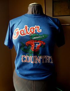 Vintage University of Florida, Gators, UF, Jerzees, T Shirt, Russell Athletic, Adult Size Small, NCAA, Collegiate Gear, Gator Country, Retro by BrindleDogVintage on Etsy