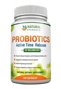 BEST PROBIOTIC SUPPLEMENT Formulated With Prebiotic Strain For Maximum Effectiveness ★120 Daily Veggie Capsules ★ Probiotic for Women