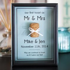 """Save those ultra-special """"corks"""" in your life with a cute frame like this!"""