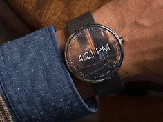Moto 360 Notification Concept [Animated]