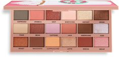 It's time to get your morning fix with the I Heart Revolution Tasty Coffee Palette. Revolution Palette, Makeup Revolution, Makeup Dupes, Eye Makeup, Makeup Products, High End Makeup Brands, Colourpop Eyeshadow, Eyeshadows, New Eyeshadow Palettes