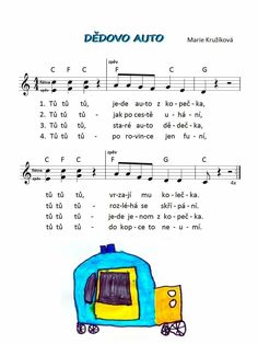 Kids Songs, Transportation, Kindergarten, Preschool, Marie, Children, Sheet Music, Musica, Pos