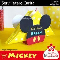 Mickey Mouse centro de mesa servilletero para imprimir                                                                                                                                                     Más