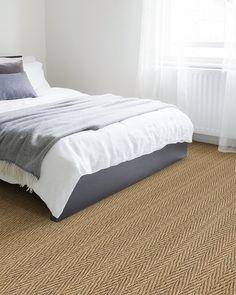 Seagrass Herringbone Carpet Best Carpet, Diy Carpet, Wall Carpet, Carpet Tiles, Bedroom Carpet, Carpet Stairs, Seagrass Carpet, Sisal Carpet, White Carpet