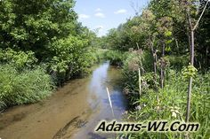 #troutfishing Neenah Creek Trout Stream is located in Adams County Wisconsin here you can find Info, Maps, Photos, Aerial Images plus Area Information like nearby Lakes, Public Land, Townships and communities. #adamscountywi