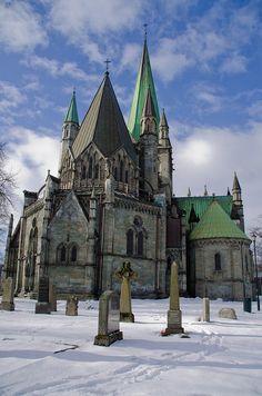 Nidaros Cathedral, Trondheim, Norway, built in 1070.