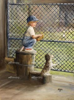 Dugout Boy by Dianne Dengel, a wallpaper wall mural from Magic Murals. This is just one of the of premium wall murals offered by Magic Murals. Fox Tattoo, Popular Artists, Summer Pictures, Beautiful Paintings, Artist Art, Framed Artwork, Find Art, Giclee Print, Art For Kids