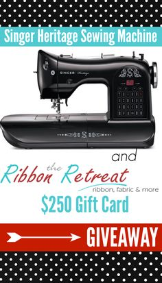 Singer Heritage Sewing Machine GIVEAWAY!