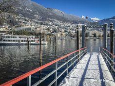 lungolago Locarno, Ticino, Switzerland Let It Snow, Let It Be, Franklin College, San Francisco Skyline, Switzerland, Travel, Middle Fingers, Locarno, Viajes