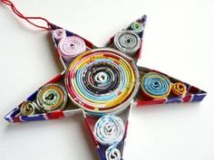 Paper star - colorful and would be fun for Meghan