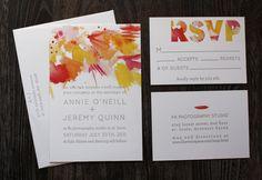 Watercolor wedding invite.