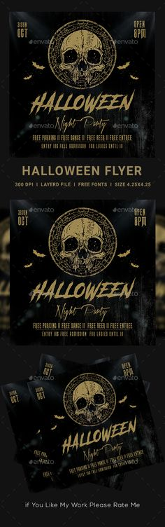 Buy Halloween Party Flyer by dhingra on GraphicRiver. Halloween Party Flyer, Free Beer, Free Fonts Download, Halloween Design, Print Templates, Business Flyer, Flyer Template, Flyer Design, Behance