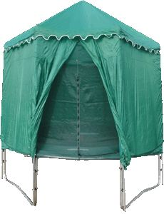 14ft Round Tr&oline Tent and Play Den  sc 1 st  Pinterest & Amazon.com: JumpPod Enclosure Cover Trampoline Rocket (15-Feet ...