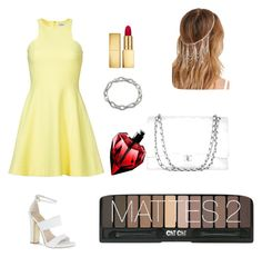 """Yellow dress"" by nanaleany ❤ liked on Polyvore"