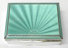 Art Deco Silver and Enamel Cigarette Case - waxantiques online gallery of antique silver