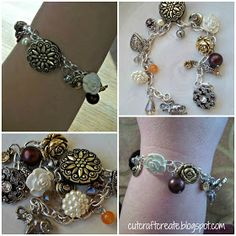 Cut, Craft, Create: Make Your Own Charm Bracelet (Using Buttons!)