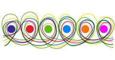 Atelier Graphisme MS Les boucles – Cette activité sur les boucles se fait avec les gommettes et feutres. En contournant les ronds, l'enfant trace des boucles.