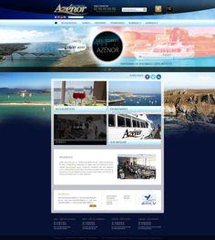 Maquette site internet azenor