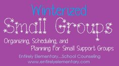 Entirely Elementary...School Counseling: Time Management love the idea of blocking off a time for only small groups!