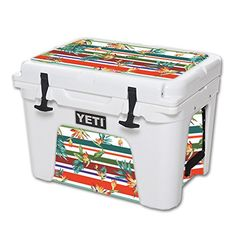 MightySkins Protective Vinyl Skin Decal for YETI Tundra 35 qt Cooler wrap cover sticker skins Tropics -- Want to know more, click on the image.-It is an affiliate link to Amazon. #CampKitchenEquipment