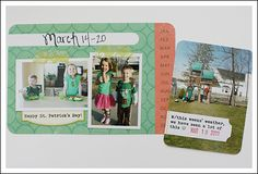 Love the mini photos on the weekly cards.  And the journaling on the other wallet size photo.