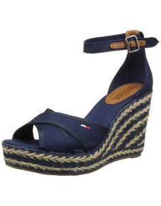 Hilfiger Denim Lively 20D, Sandales compensees femme: Amazon.fr: Chaussures et Sacs
