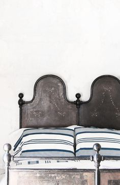 = vintage metal bed and linen