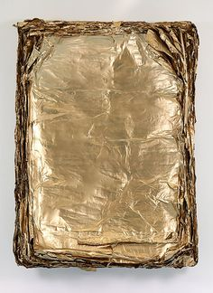 Gold Leaf on Canvas - Eric Baudart, Concave, 2013