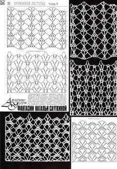 Crochet ideas that you'll love Crochet Symbols, Crochet Motifs, Crochet Diagram, Crochet Stitches Patterns, Lace Patterns, Crochet Chart, Knitting Stitches, Stitch Patterns, Crochet Curtains