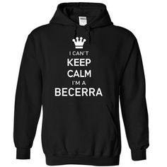 I Cant Keep Calm Im A BECERRA - #gift for girlfriend #gift amor. CHECK PRICE => https://www.sunfrog.com/Names/I-Cant-Keep-Calm-Im-A-BECERRA-njjey-Black-17187426-Hoodie.html?id=60505
