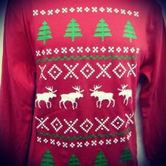 Have you gotten your ugly sweater sweatshirt yet? There's still time! #Holiday #Post #UglySweater #Ugly #Sweatshirt #Christmas #Trees #Moose #Snow #Flakes #Shop