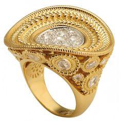 Diamonds set in gold by Carrera y Carrera