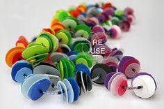 Re Use...vecchi materiali per nuove forme: Flaconi di shampoo e fili elettrici!!