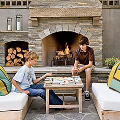 Outdoor fireplace option