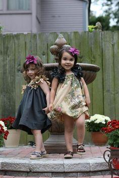 Adorable flower girl dresses.