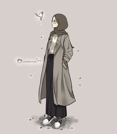 Wallpaper Anime Muslimah Hipster Di 2020 Kartun Gambar