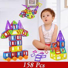 158pcs Magnetic Model Building Blocks Toys