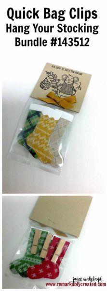 DIY Bag Clips  #remarkablycreated #stampinup