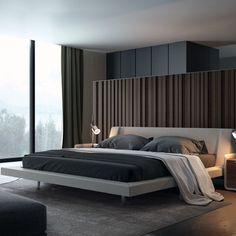 Sandro Harper Upholstered Platform Bed Color: Almond-Buff, Size: Queen Upholstered Platform Bed, Modern Beds, Modern Contemporary, Modern Bedrooms, Hotels, Design Bedroom, Bedroom Decor, Modern Bedroom Furniture Sets, Modern Bedding