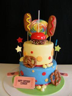 fun carnival theme cake