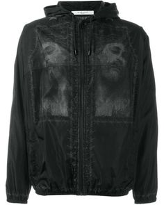 Givenchy   Black Christ Print Windbreaker Jacket for Men   Lyst Hooded  Jacket, Givenchy Mens 23f5a1c1ad