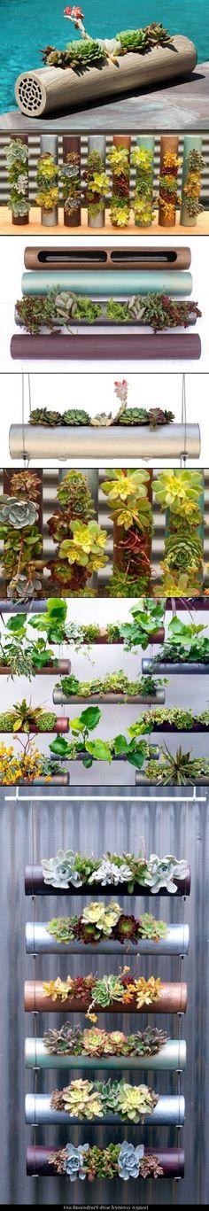 DIY Indoor-Outdoor Modular Cylinder Planters