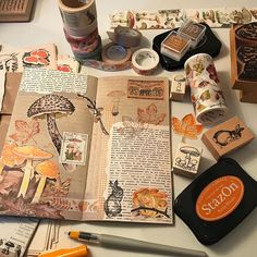 I'm getting all of my bits together for an autumn sabbat junk journal. Bullet Journal Agenda, Bullet Journal Aesthetic, Bullet Journal Ideas Pages, Bullet Journal Inspiration, Art Journal Pages, Junk Journal, Art Journals, Scrapbook Journal, Journal Layout