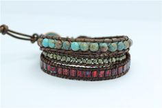 Shop for on Etsy, the place to express your creativity through the buying and selling of handmade and vintage goods. Beaded Wrap Bracelets, Boho, Trending Outfits, Unique Jewelry, Handmade Gifts, Leather, Etsy, Vintage, Women