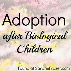Those who adopt after biological children face different than those who enter the adoption world after infertility. Part of a series on adoption.