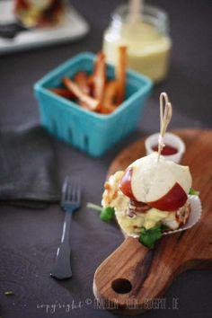 Bleib hungrig auf Neues: Fischburger mit Mango-Joghurtsoße und Süßkartoffelpommes