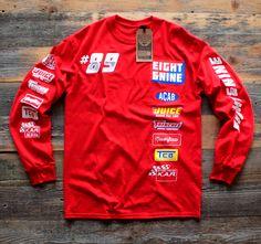 Drag Race Custom Jersey Tee Red L/S