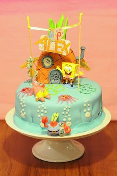 My Sponge Bob Fondant Cake : )      I would love to have this on my birthday