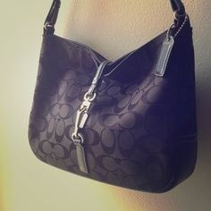 I just discovered this while shopping on Poshmark: Authentic COACH Hampton's Hobo Signature Purse. Check it out!  Size: OS